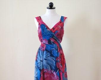 NANETTE LEPORE Floral Metallic Silk Dress