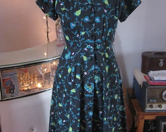 ITEM DISCOUNTED Amazingly Vibrant True Vintage 1950's day dress