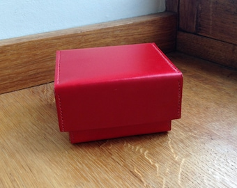 The Not Quite Square Red Leather Box