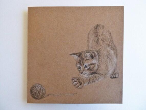 Cuentos Gatito Cat Lindo Kit de tarjeta de punto de cruz