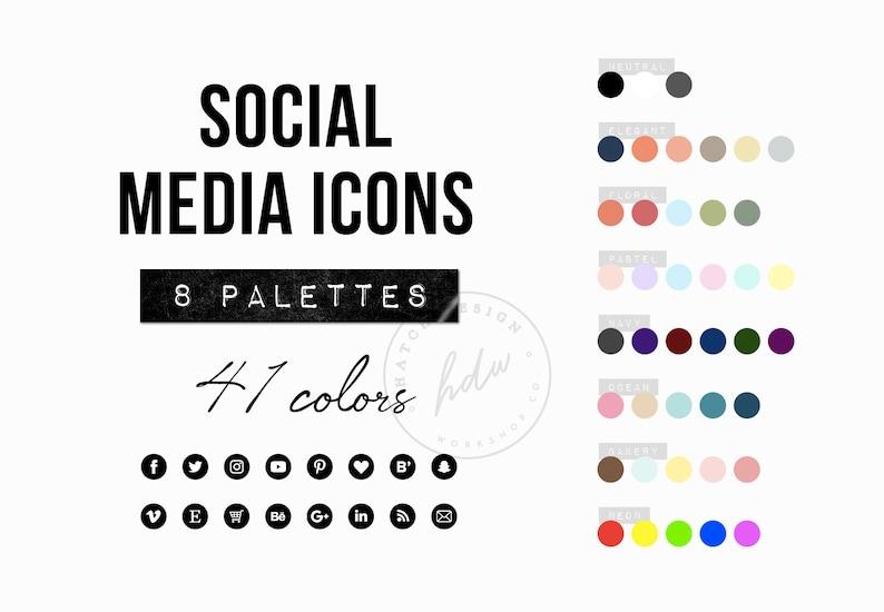 Social Media Icons Website Icons Blog Buttons Black Clipart Png Pink Purple Kit Marketing Instagram Snapchat Facebook Pinterest