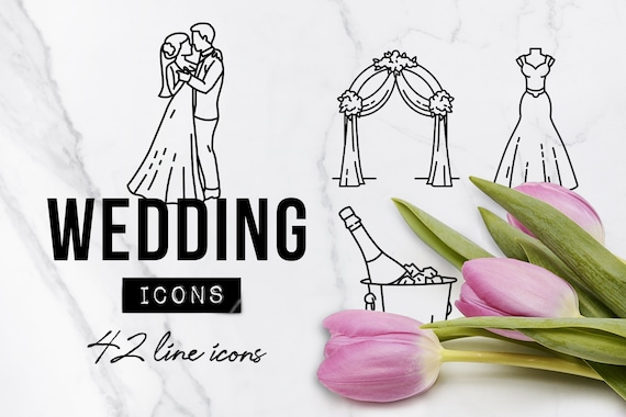 Hochzeit Symbole Hochzeit Symbole Cliparts Hochzeit Etsy