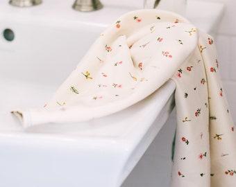 floral | organic cotton t-shirt hair towel