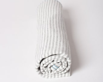 gray stripe | organic cotton t-shirt hair towel
