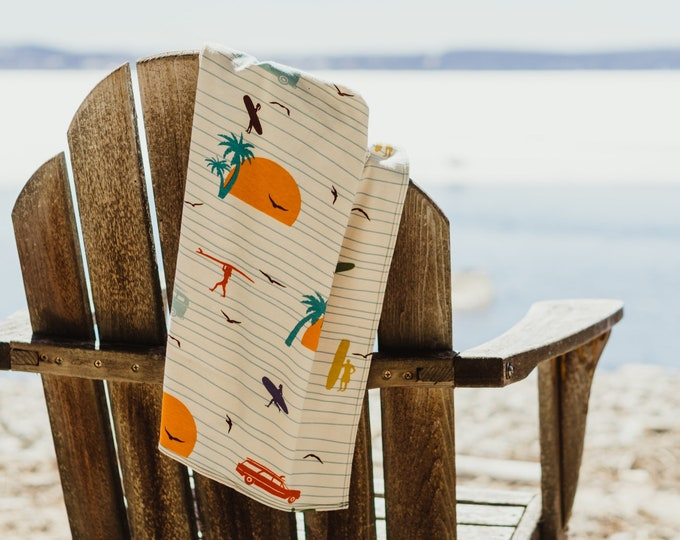 summer surf | organic cotton t-shirt hair towel
