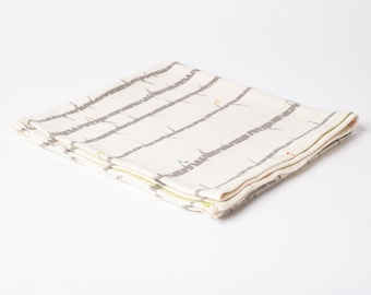 birch perch | organic cotton t-shirt hair towel