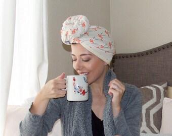 flamingo | organic cotton t-shirt hair towel