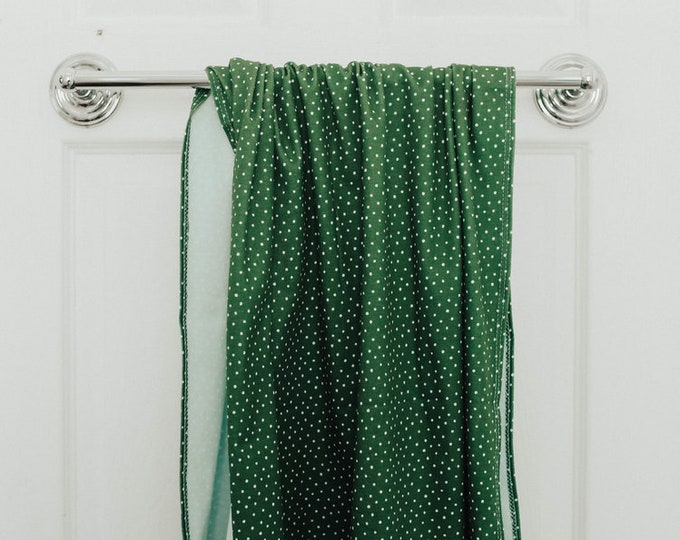 green w/ white polka dot | organic cotton t-shirt hair towel