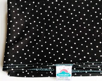 NEW!  black & white polka dot | organic cotton t-shirt hair towel