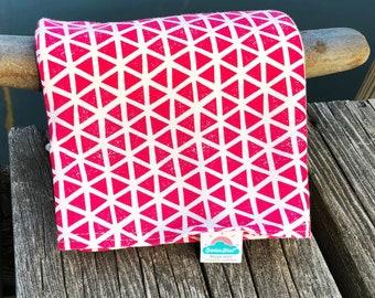 NEW!  hot pink triangles | organic cotton t-shirt hair towel