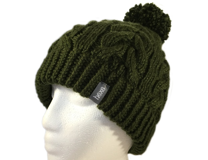 dfa8a197a89d8 Army Green Hat Womens   Snowboard Beanie   Hand Knit Hat Women