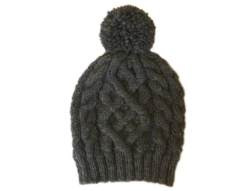 14d45f36923 Charcoal Gray Pom Pom Beanie   Womens Pom Pom Hat   Ski Hat   Hand Knitted  Hats ... Charcoal Gray Pom Pom Beanie   Womens Pom Pom Hat   Ski Hat   Hand  ...