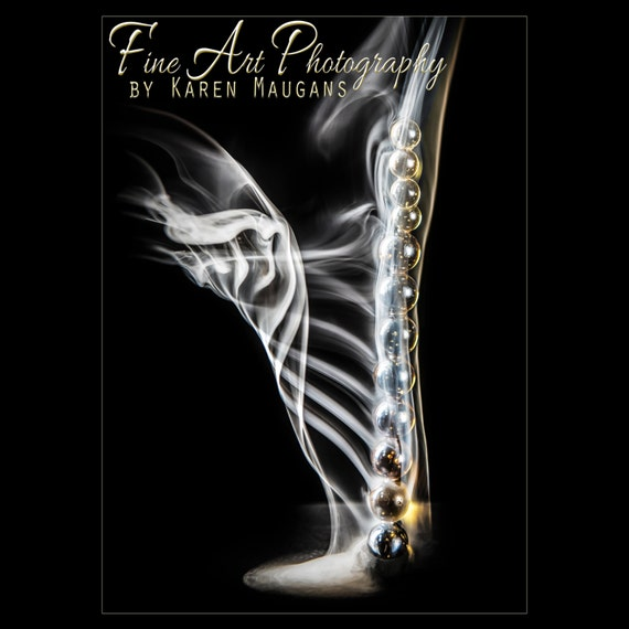 Smoke Harp Sculpture Gold Music Instrument Incense Glass Black Background Wall Art Abstract Art Smoke Art Wisp Of Smoke Elegant
