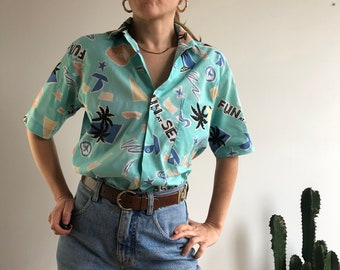 78a01df1 Vintage Hawaiian shirt. Women's size L. UK up to size 14. Late 80's early  90's era.