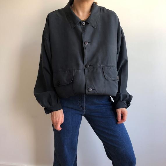 Vintage silk bomber jacket. Originally women's si… - image 7