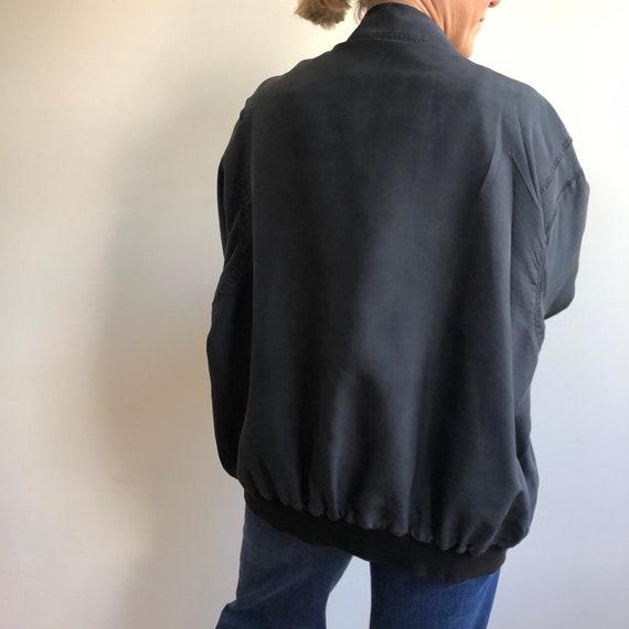 Vintage silk bomber jacket. Originally women's si… - image 9