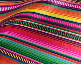 e29d37fa7 Printed Marine Vinyl - Braided Serape - Faux Printed Leather Sheet -  Earring Material - Serape Faux Leather - Upholstery Fabric