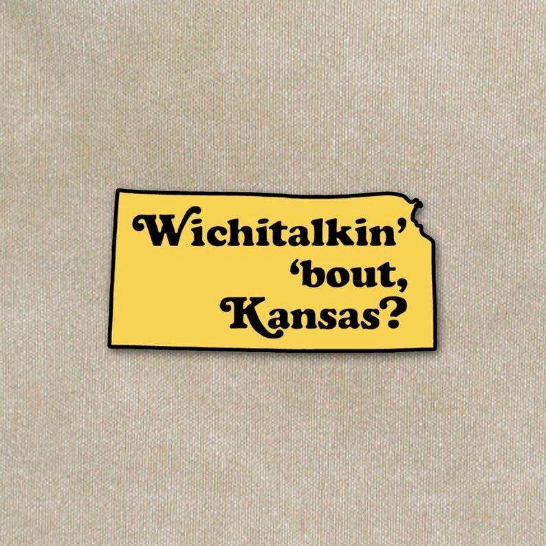 Wichitalkin' 'bout Kansas Lapel Pin image 0