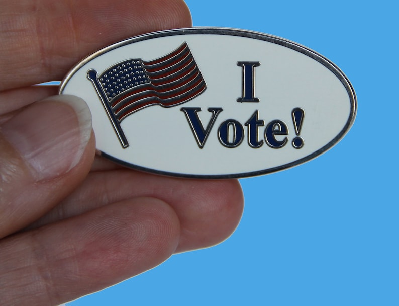 I Vote Lapel Pin  Election Pin  Political Pin  Election image 0