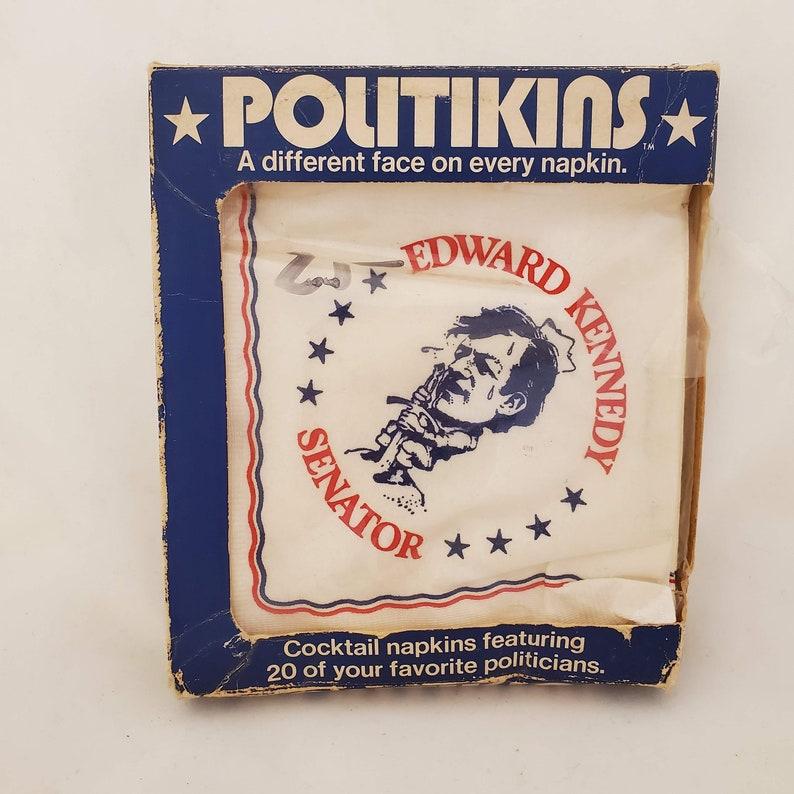 Politician Cocktail Napkins 1972 Richard Nixon Teddy Kennedy