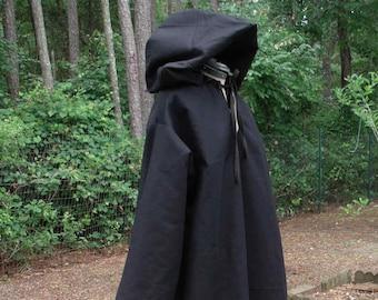 Hooded Robe in Black 038c01247
