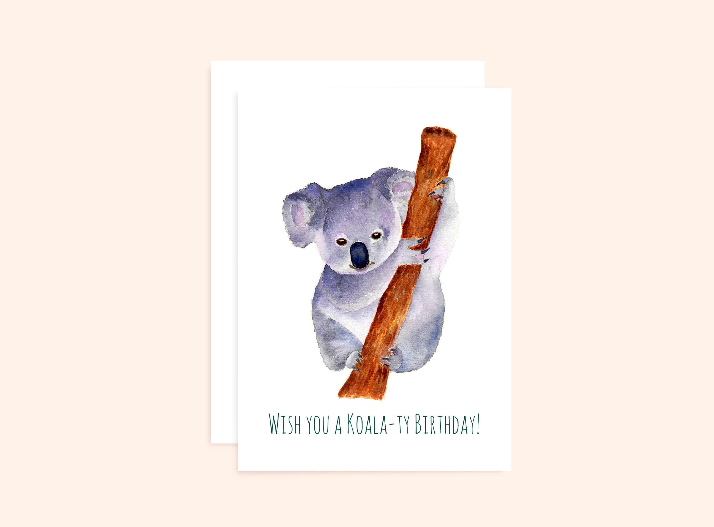 - Geburtstag,Grußkarte Usw Koala Bären Grußkarte Innen Leer