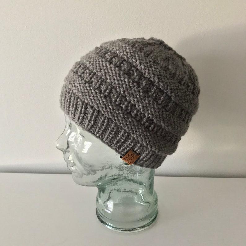 Adult Messy Bun Hat gray or light gray