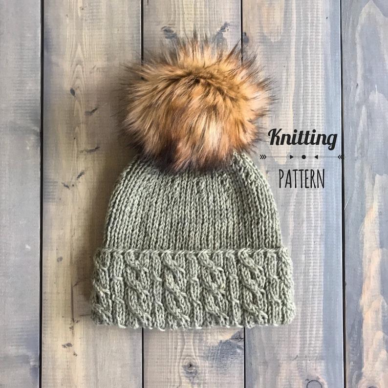 Bunny Hill Hat knitting PATTERN