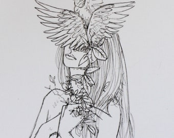 Ophelia - 5 x 7 Print