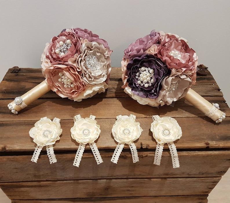 fabric bouquet Brooch bouquet wedding flowers handmade keepsake alternative bouquet bridal flowers satin flowers bridal accessorie