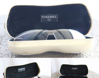 235ff16328 REDUCED   Authentic Chanel Gold Tone 4043 Rimless Sunglasses