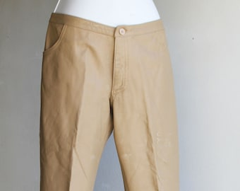 Vintage Coffee Brown Soft Leather PantsTrousers US Size 2