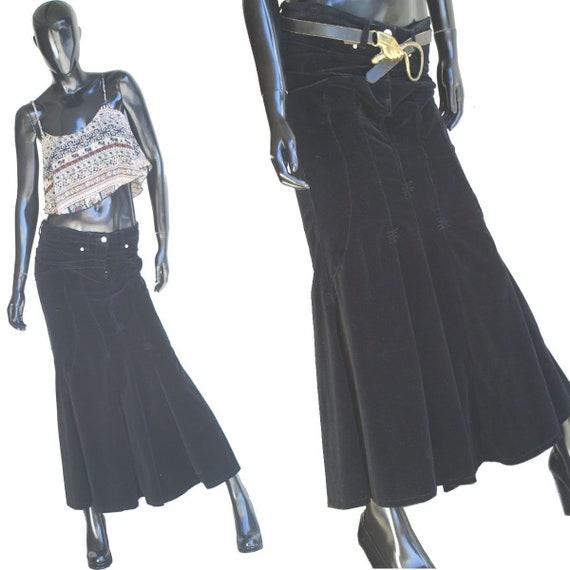 Vintage Bisou Bisou Jeans Black Velvet Mermaid Ma… - image 1