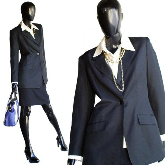 Vintage Halston Single Button Silk Blazer  Size 10 - image 1