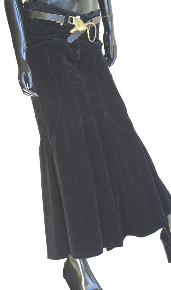 Vintage Bisou Bisou Jeans Black Velvet Mermaid Ma… - image 8