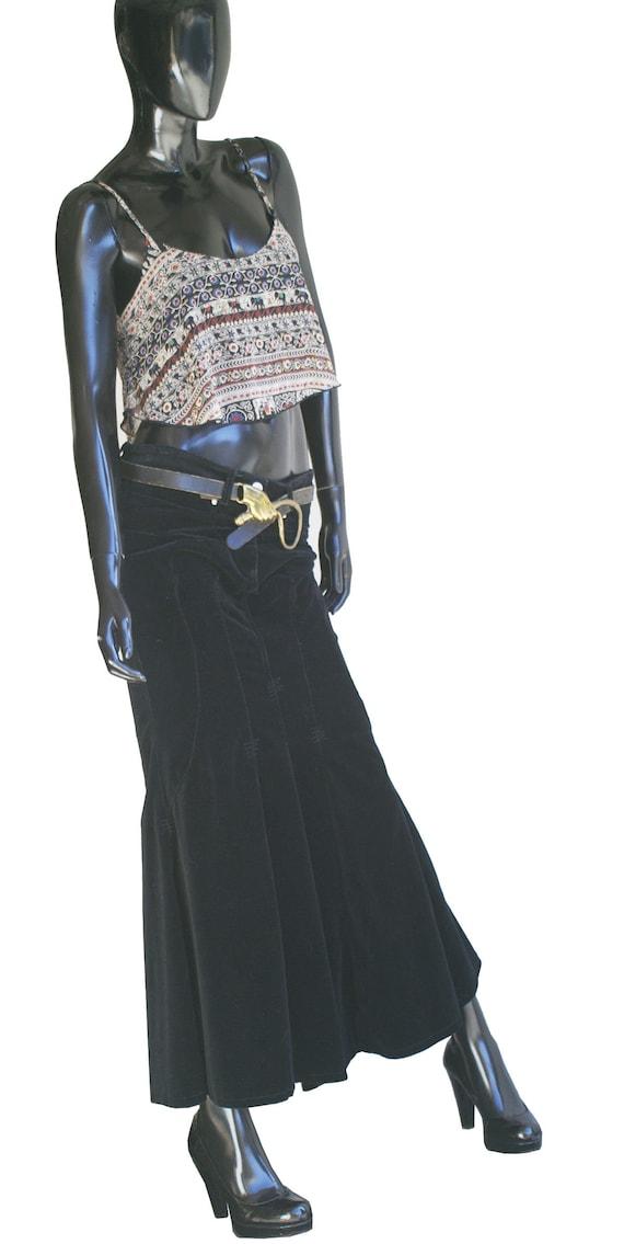 Vintage Bisou Bisou Jeans Black Velvet Mermaid Ma… - image 9