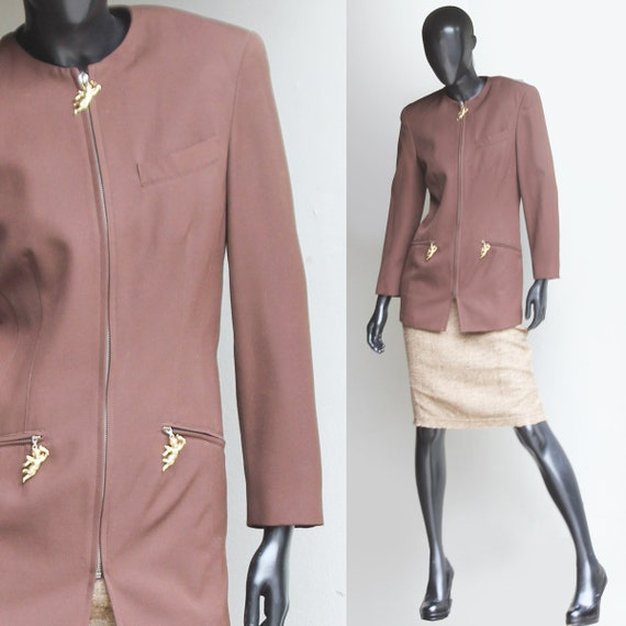 Vintage Mondi Brown Fitted Blazer   US Size Small