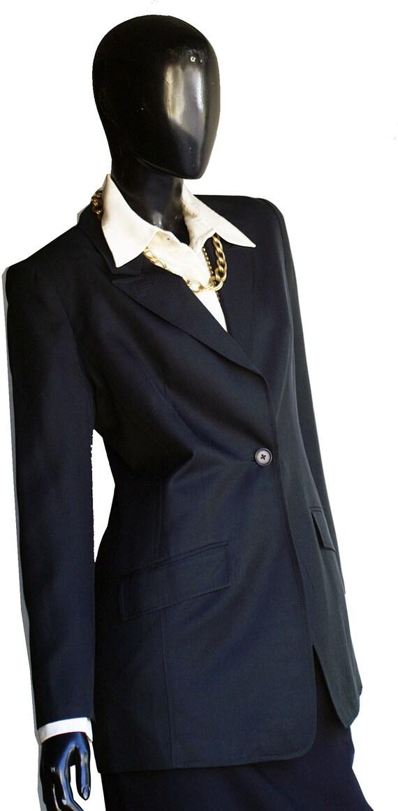 Vintage Halston Single Button Silk Blazer  Size 10 - image 10