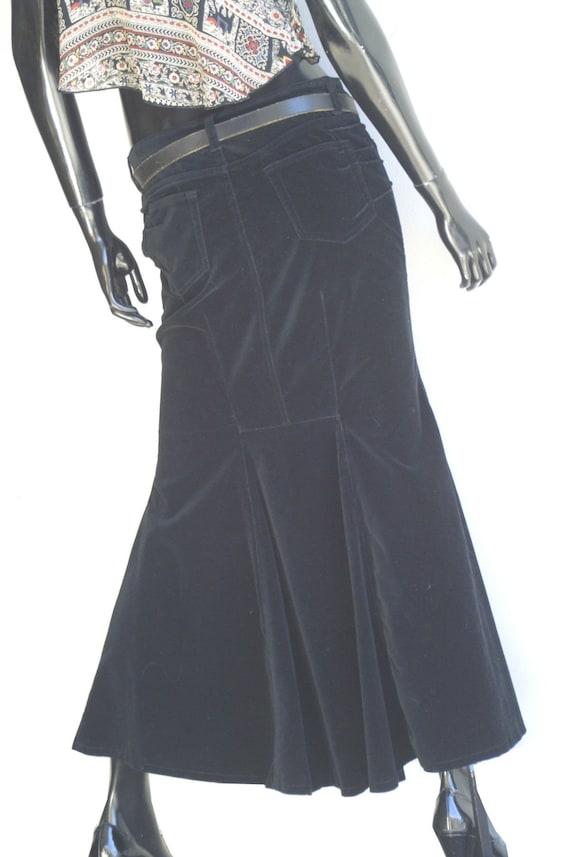 Vintage Bisou Bisou Jeans Black Velvet Mermaid Ma… - image 2
