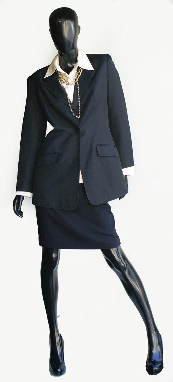 Vintage Halston Single Button Silk Blazer  Size 10 - image 9