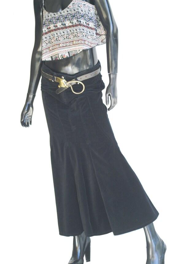 Vintage Bisou Bisou Jeans Black Velvet Mermaid Ma… - image 5