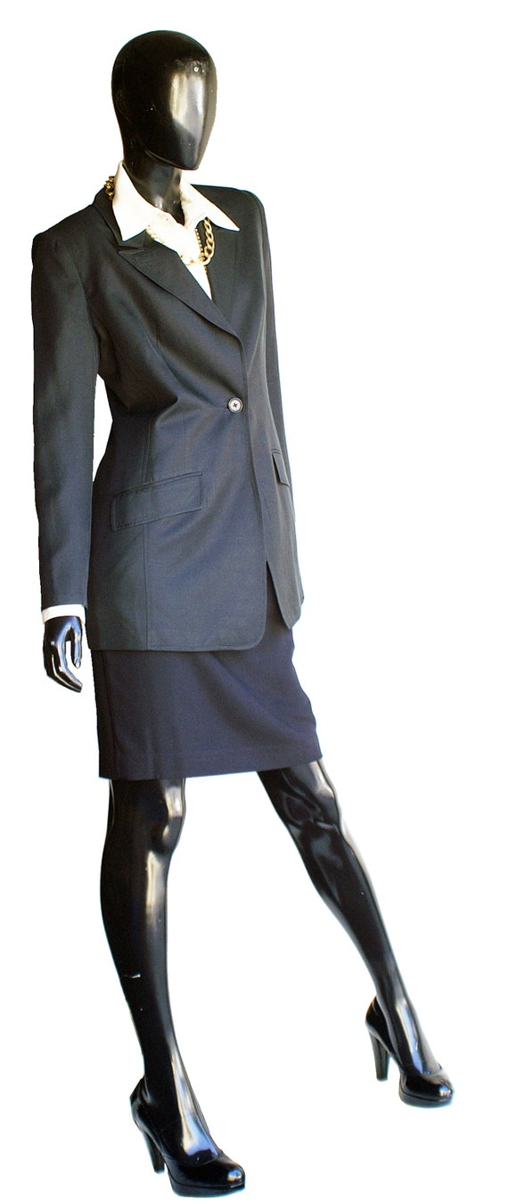 Vintage Halston Single Button Silk Blazer  Size 10 - image 4