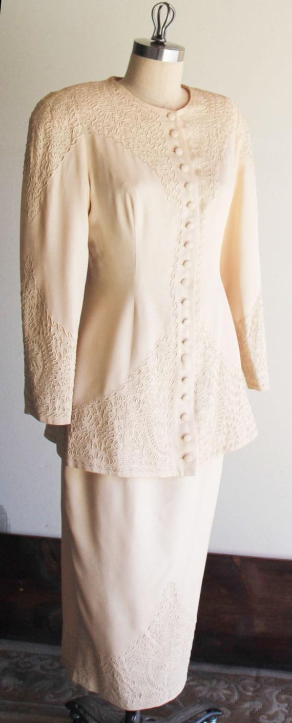 Vintage Marie St. Claire  Embroidered Blazer Jack… - image 6