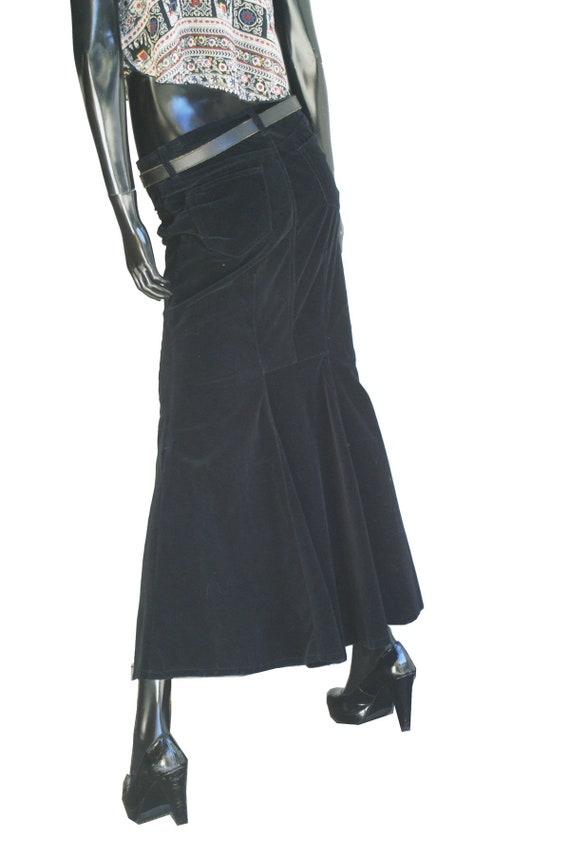 Vintage Bisou Bisou Jeans Black Velvet Mermaid Ma… - image 4