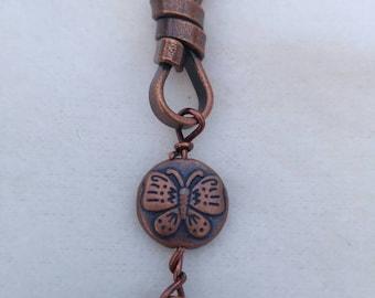 """Copper Butterfly Bracelet 7.5"""""""