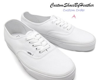 Fully Custom Hand Painted Shoes, Vans/Converse/TOMS: Style A