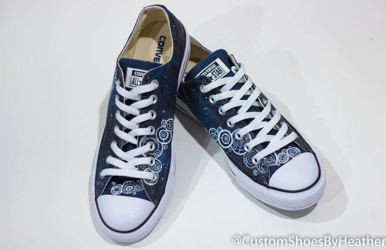 f741a143d98 Dr. Who Inspired Hand Painted Shoes Vans Converse
