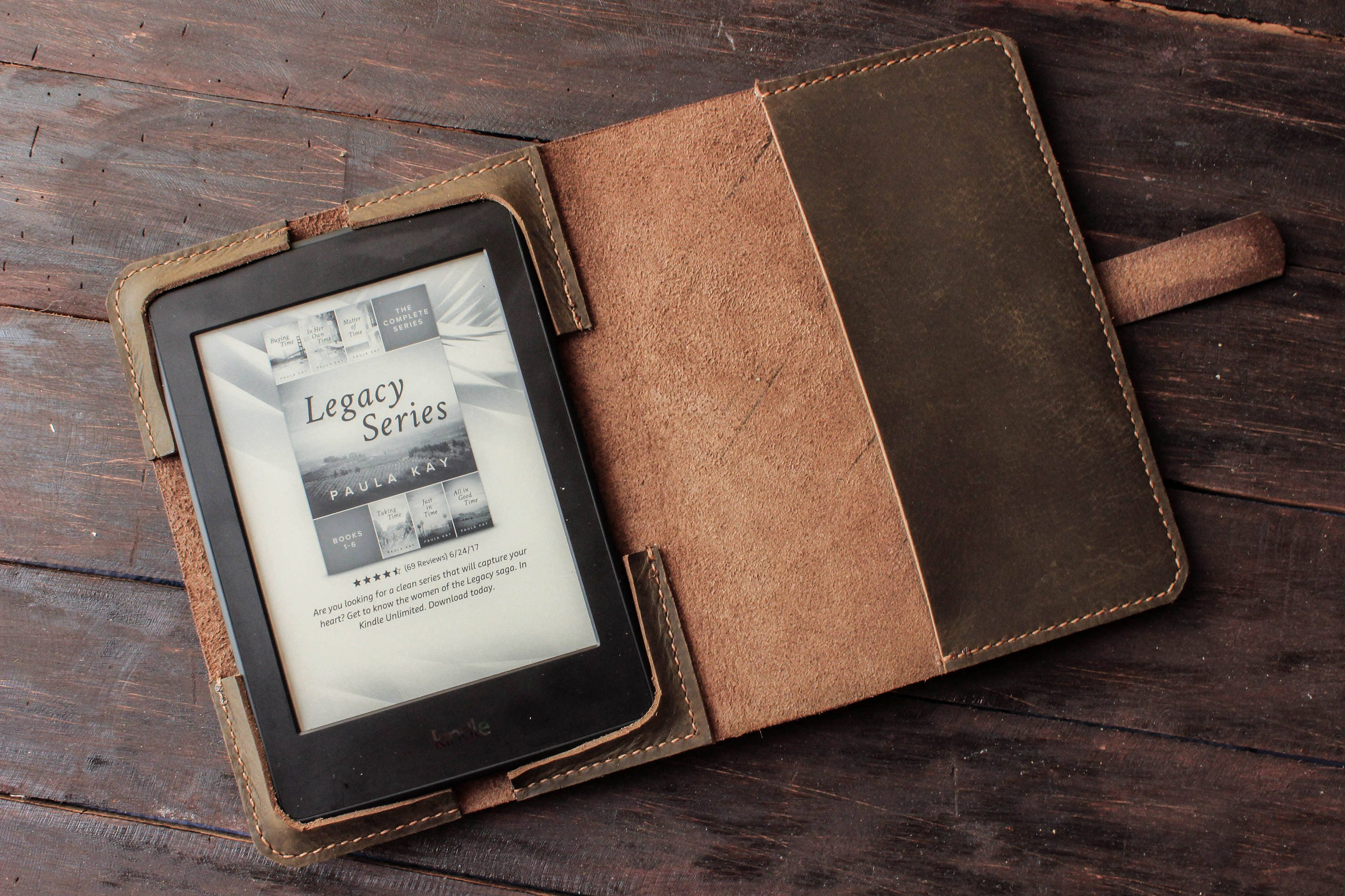 best website d0d8e 47892 Leather Kindle Paperwhite cover, leather Kindle Oasis case, Kindle Voyage  leather case, hand sewn stitch, ereader custom case notebook T54