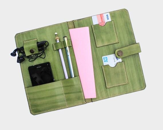 8e70b878219f5 Skórzane portfolio Case Travel portfela paszport okładka ręka