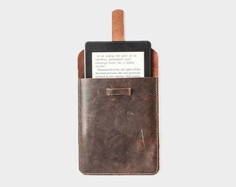 Leather Kindle voyage case, custom amazon Kindle cover, Kindle paperwhite leather case, Oasis 2017 1 2 sleeve ereader tablet handmade T55